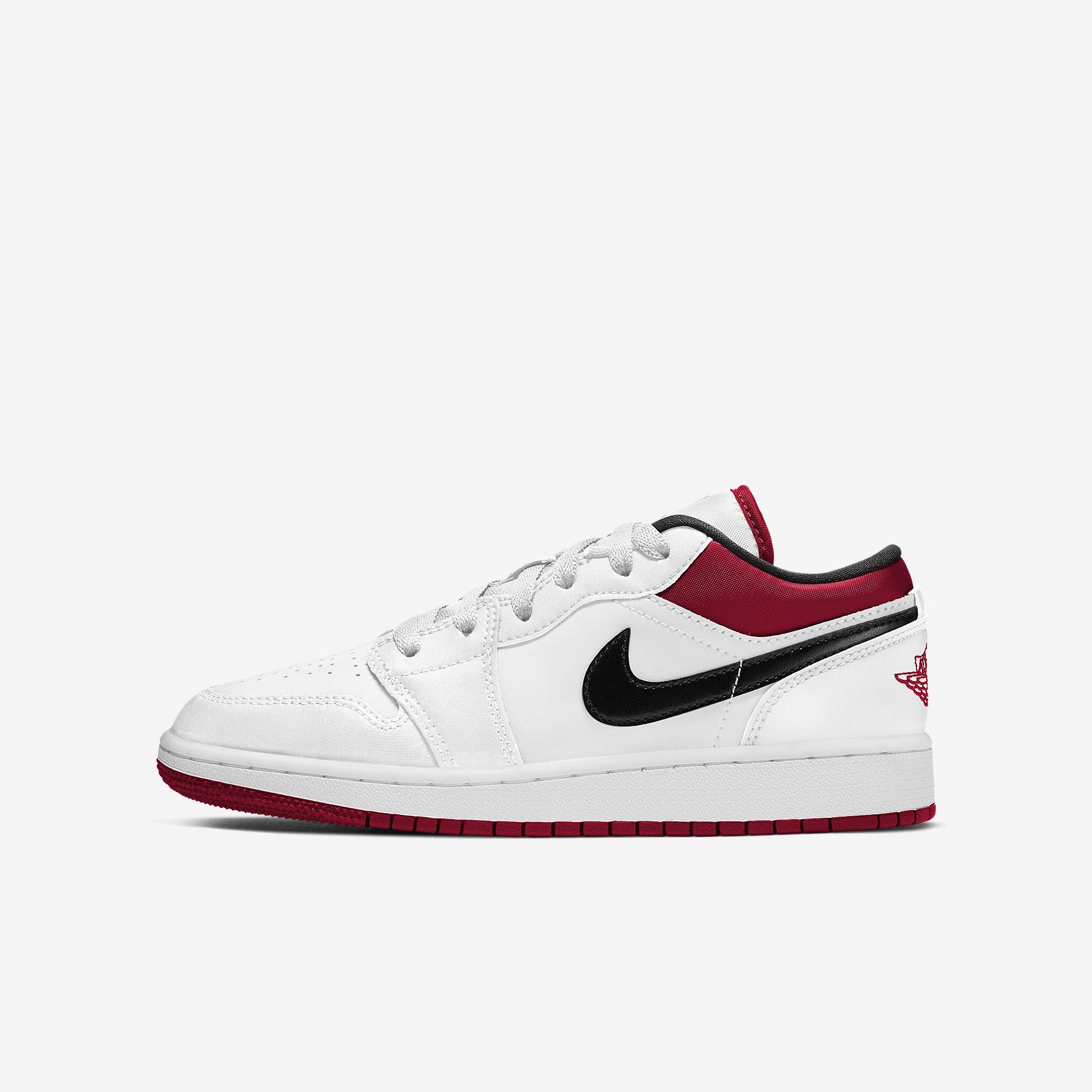 Air Jordan 1 Low GS 'White Black Gym Red'