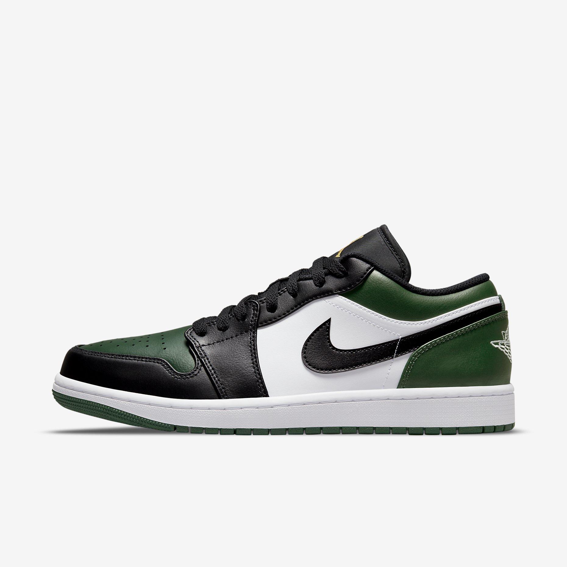 Air Jordan 1 Low 'Noble Green' - Green Toe