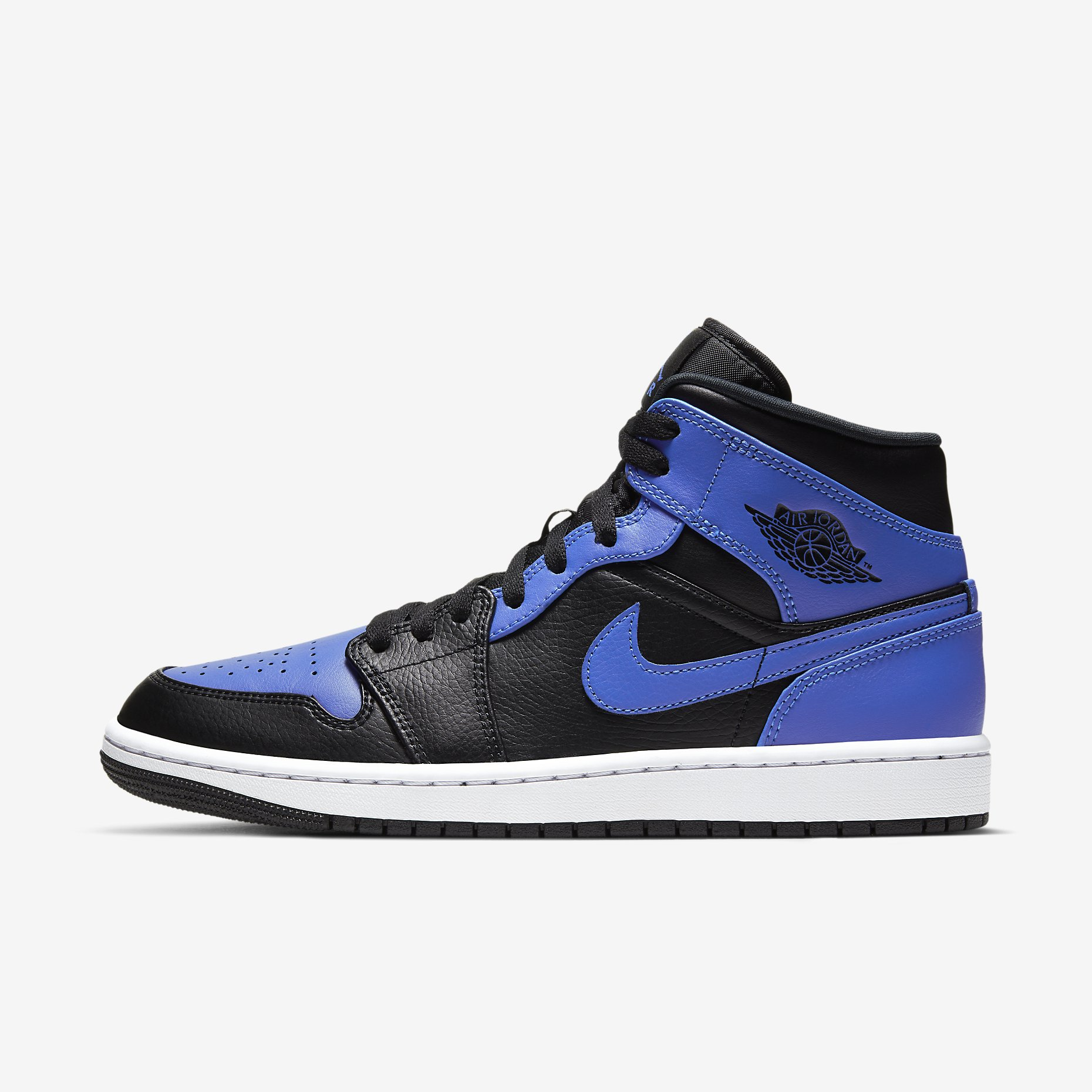 Air Jordan 1 Mid 'Black/Hyper Royal'}
