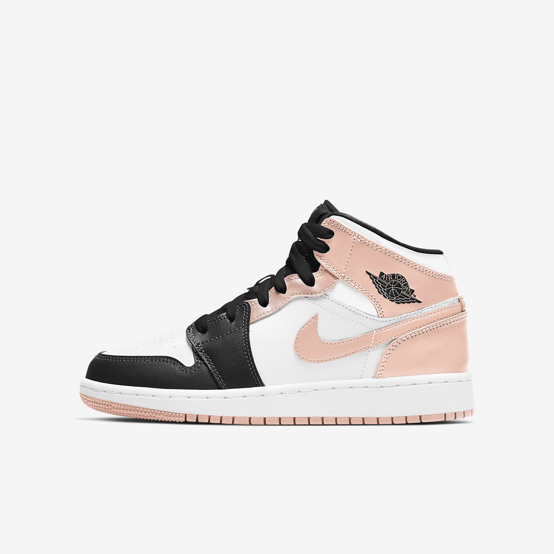 Air Jordan 1 Mid GS 'Arctic Orange'}