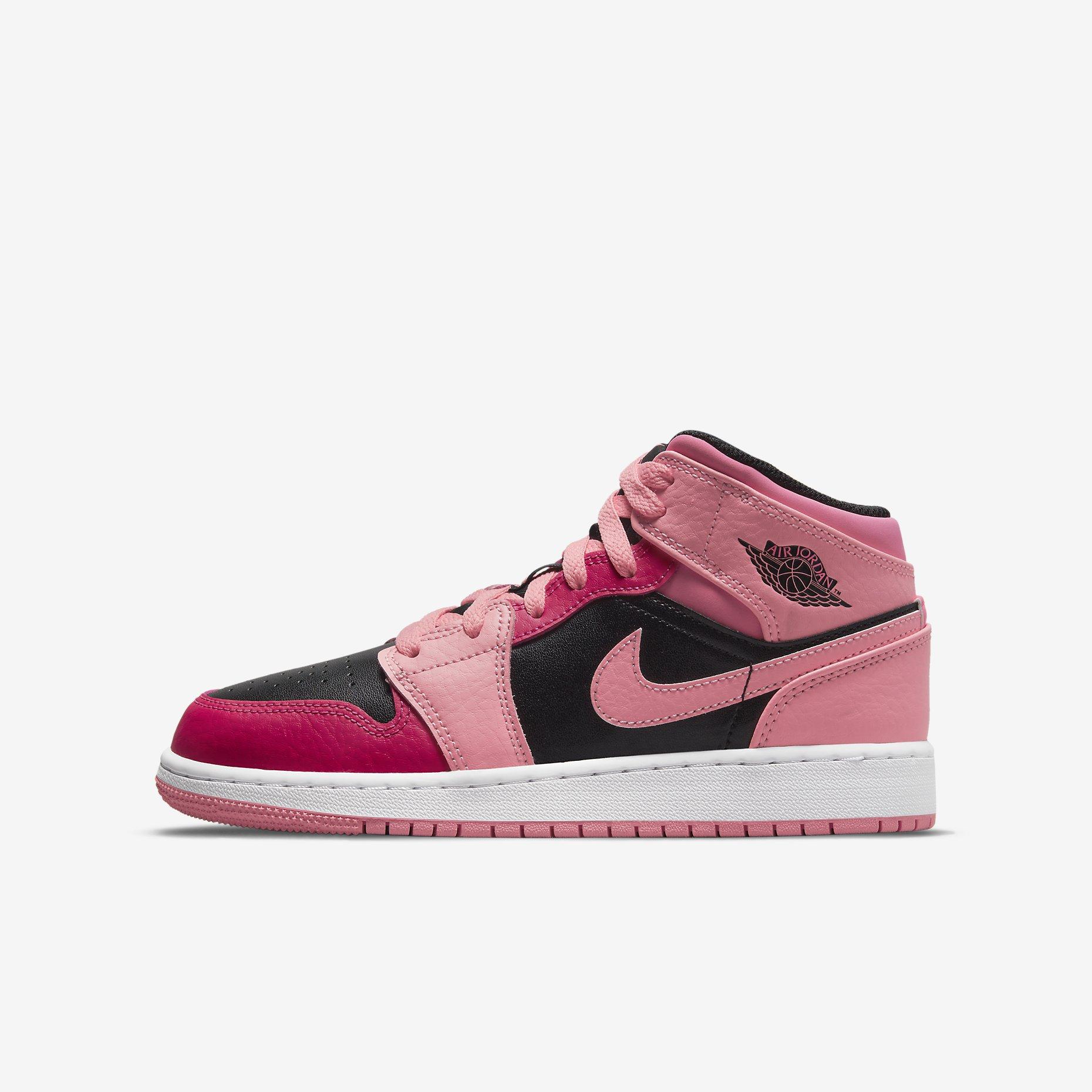 Air Jordan 1 Mid GS 'Coral Chalk Rush Pink'