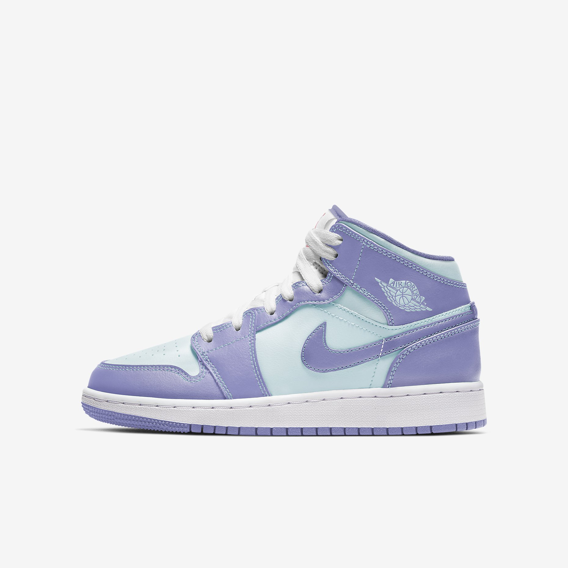 Air Jordan 1 Mid GS 'Purple Pulse Glacier Blue'}