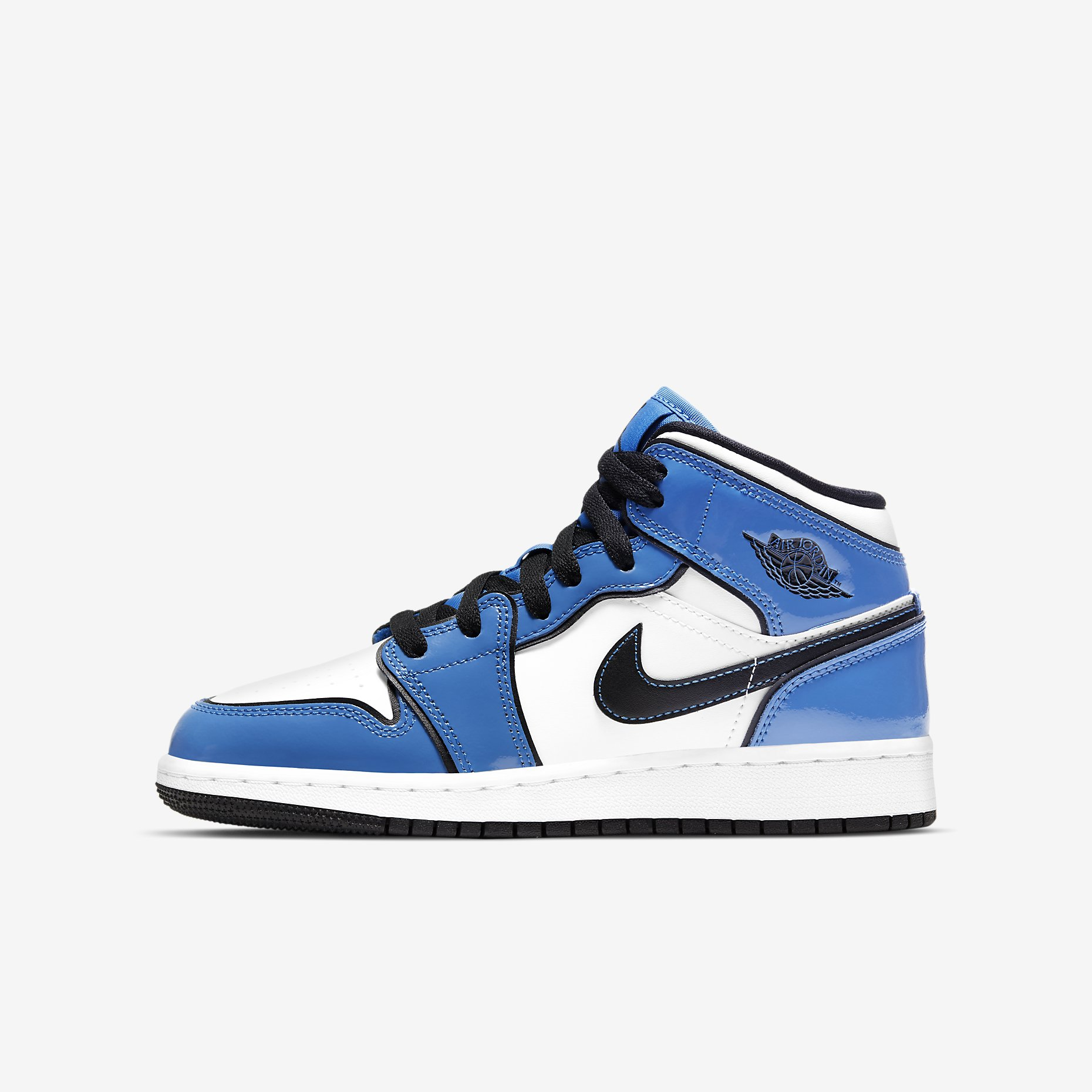Air Jordan 1 Mid GS 'Signal Blue'}