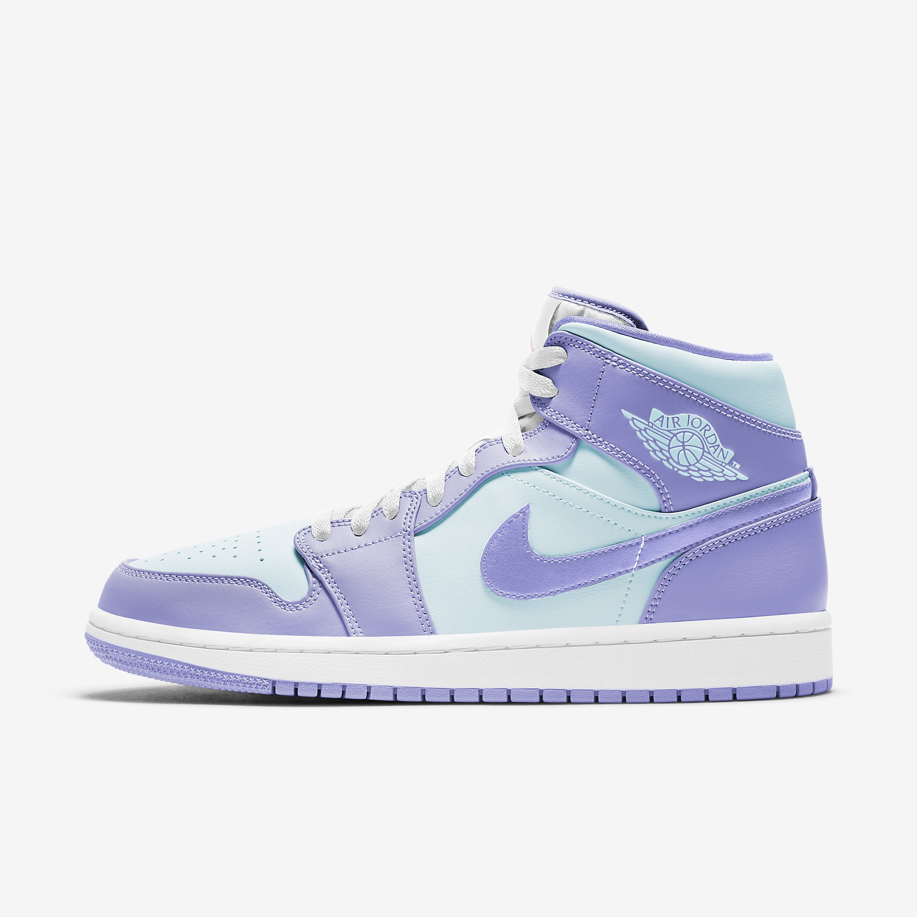 Air Jordan 1 Mid 'Purple Pulse Glacier Blue'}
