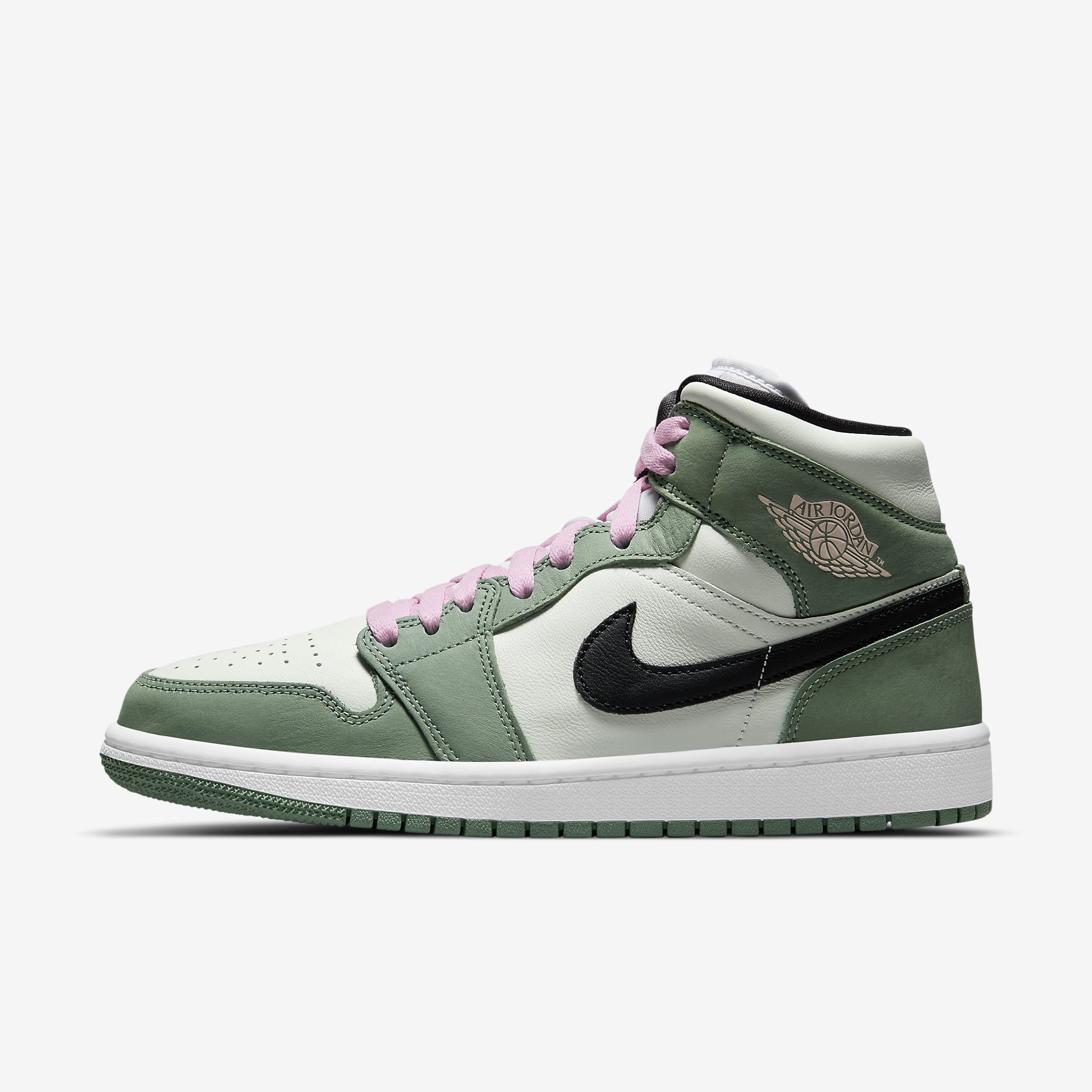 Women's Air Jordan 1 Mid SE 'Dutch Green'}