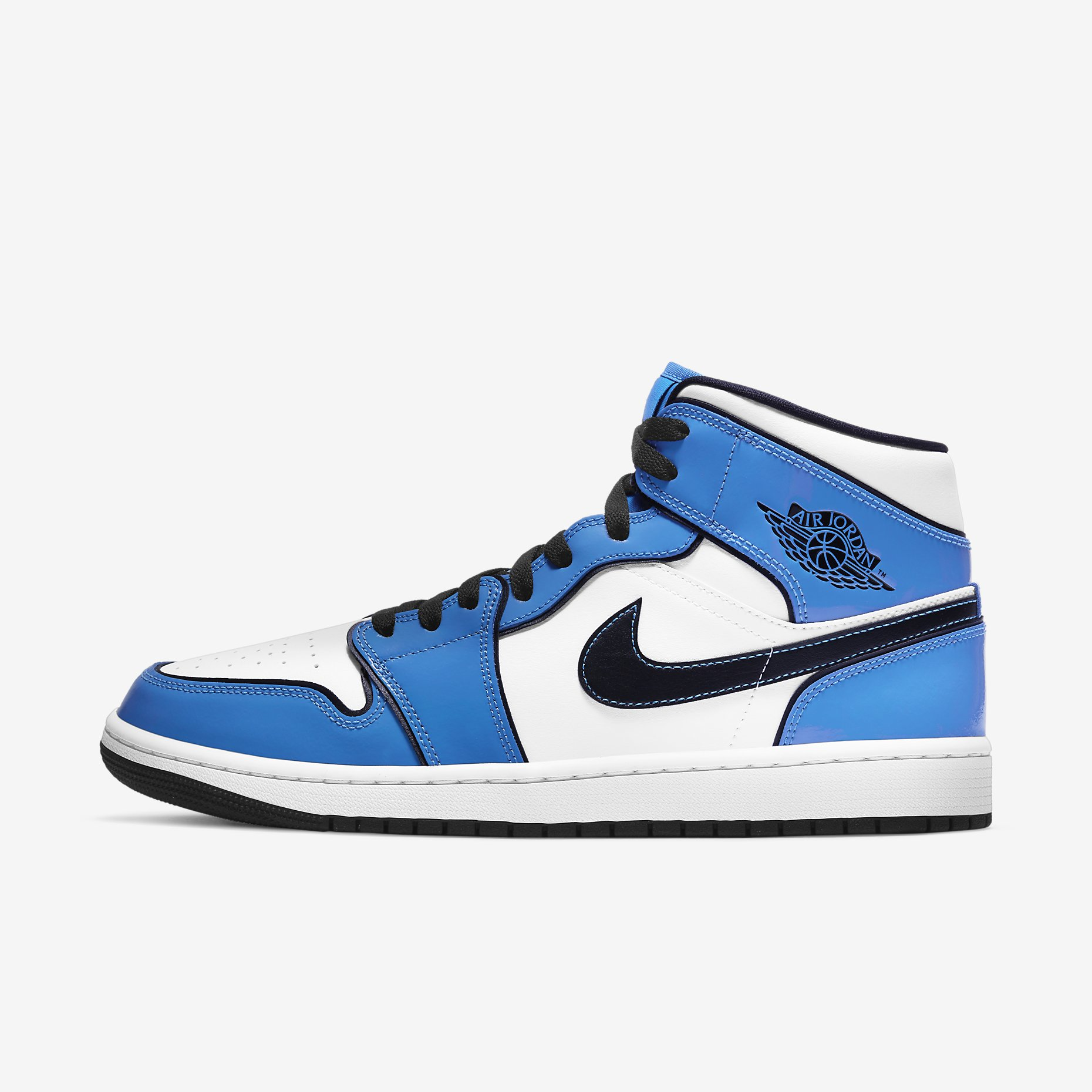 Air Jordan 1 Mid 'Signal Blue'}