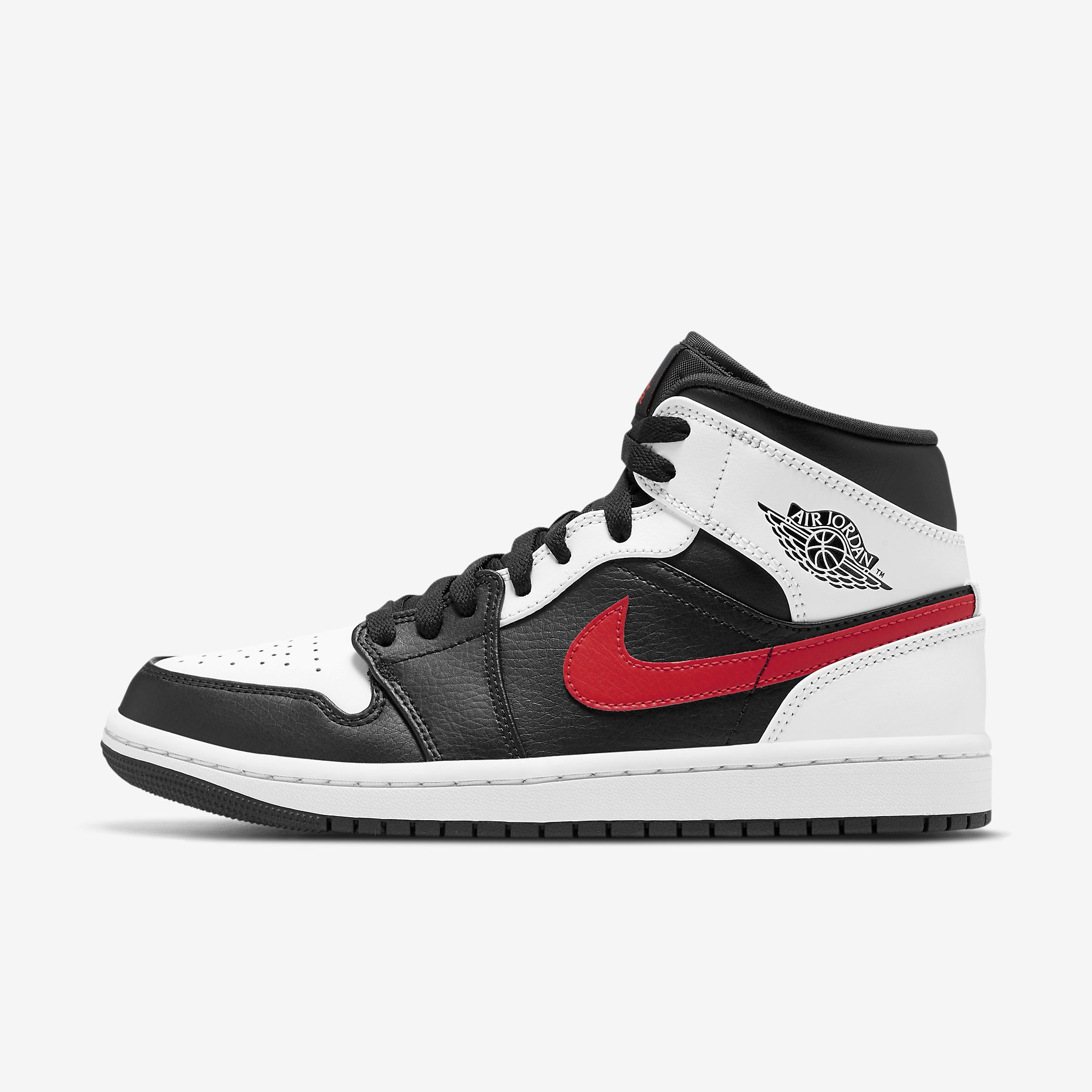 Air Jordan 1 Mid 'White/Black/Chile Red'}