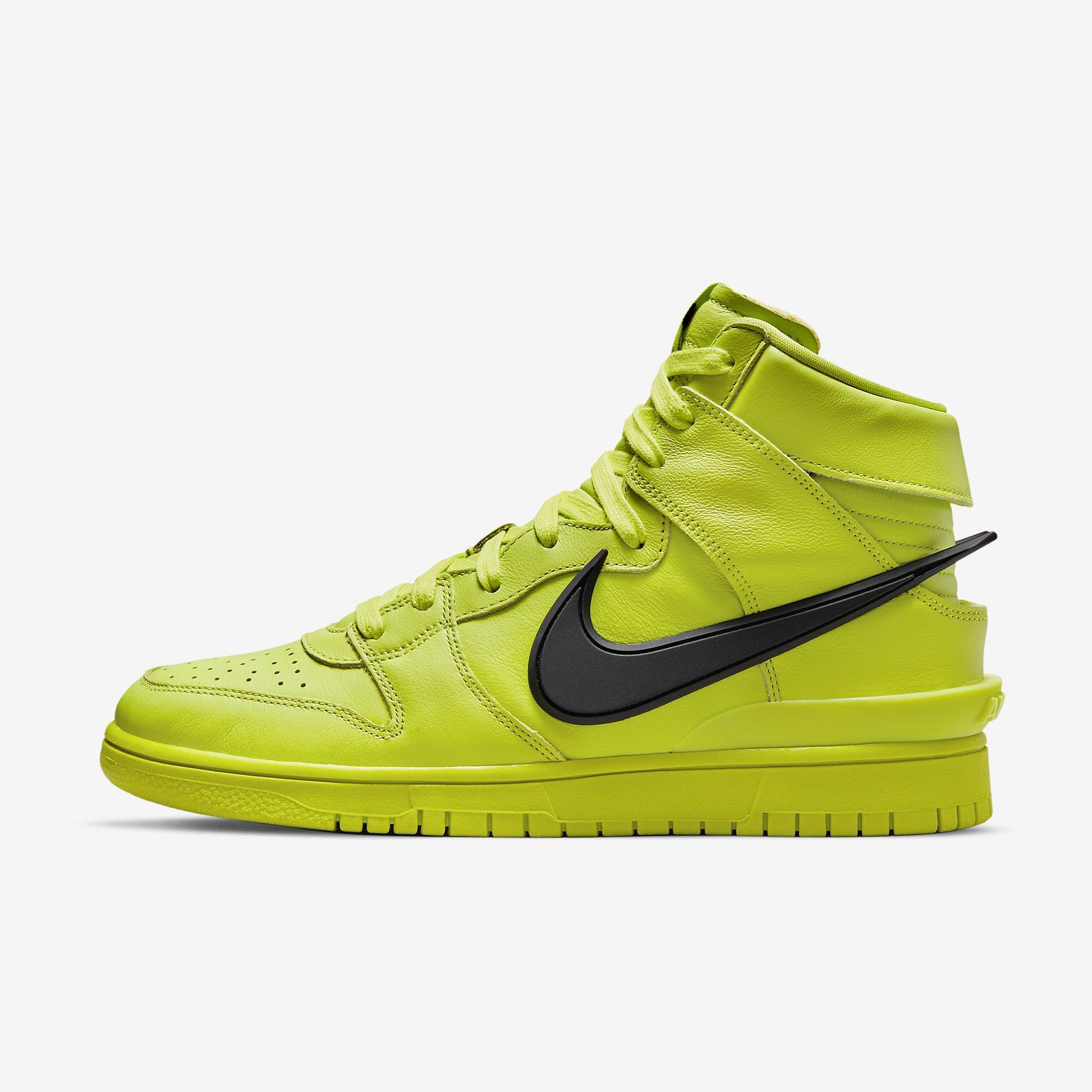 Ambush x Nike Dunk High 'Flash Lime'}