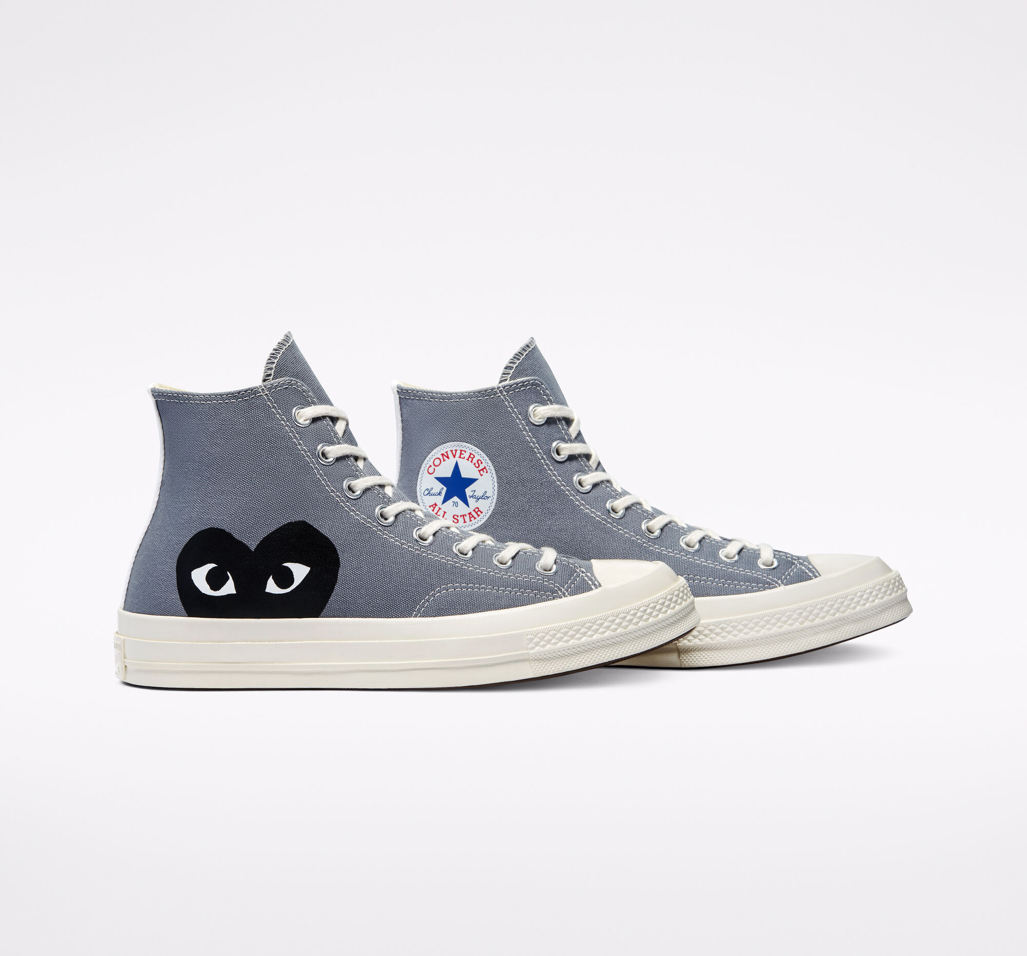 Comme des Garcons Play x Converse Chuck Taylor 70 High 'Steel Gray'