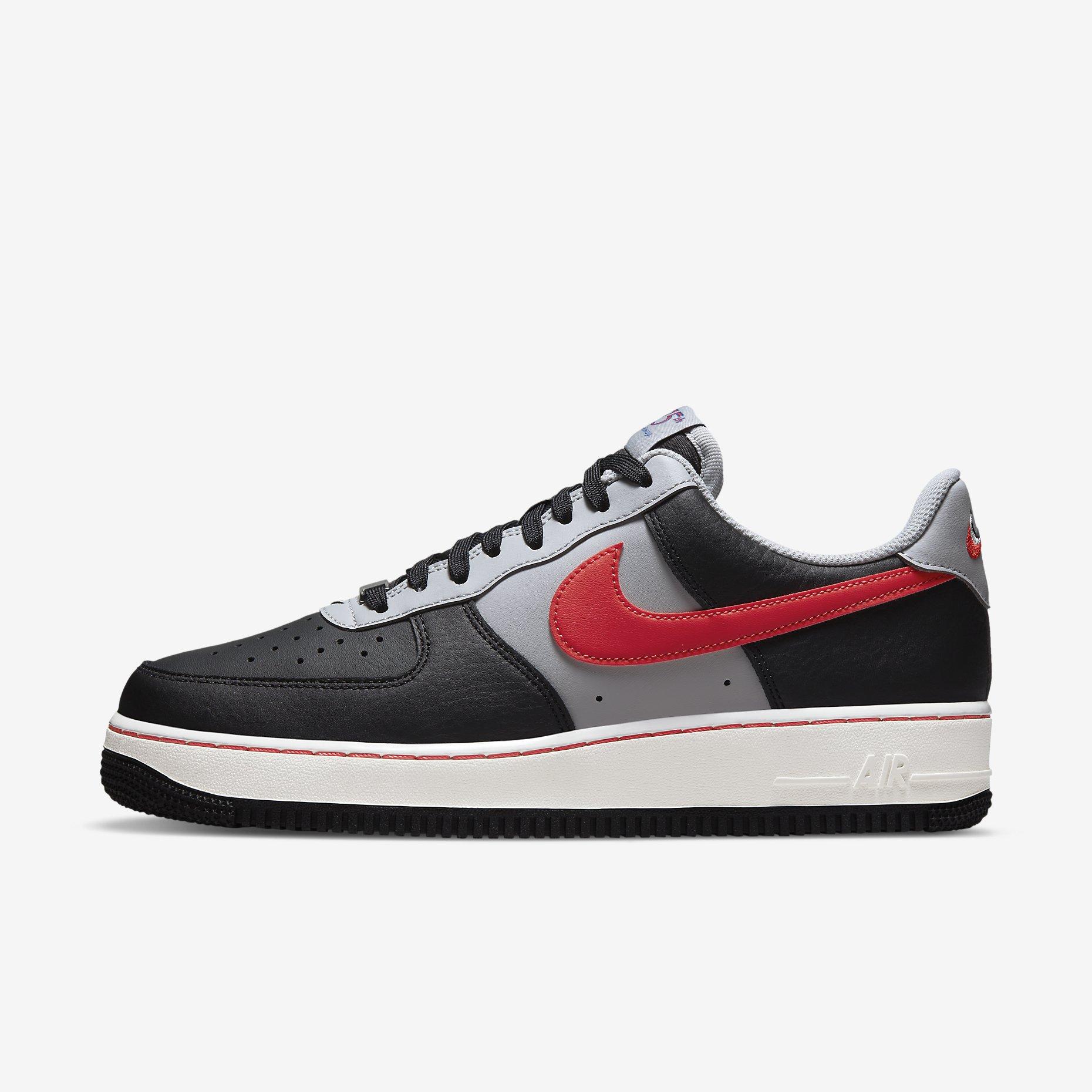 NBA x Nike Air Force 1 '07 LV8 'Black/Grey Fog/Chile Red'