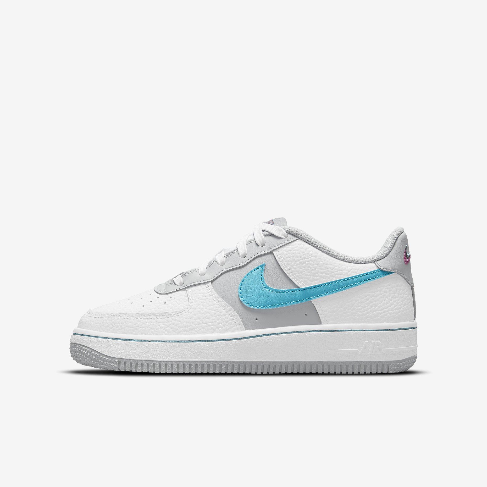 NBA x Nike Air Force 1 GS 'White/Grey Fog'