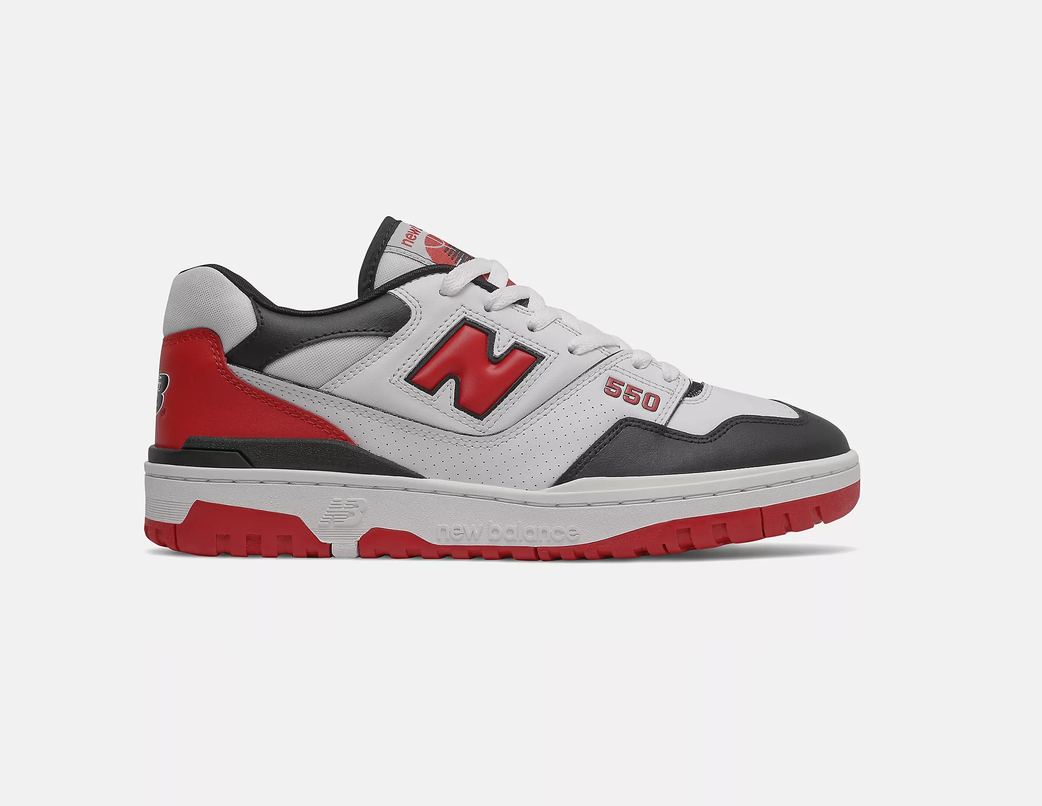 New Balance 550 'White Team Red' Shifted Sport Pack