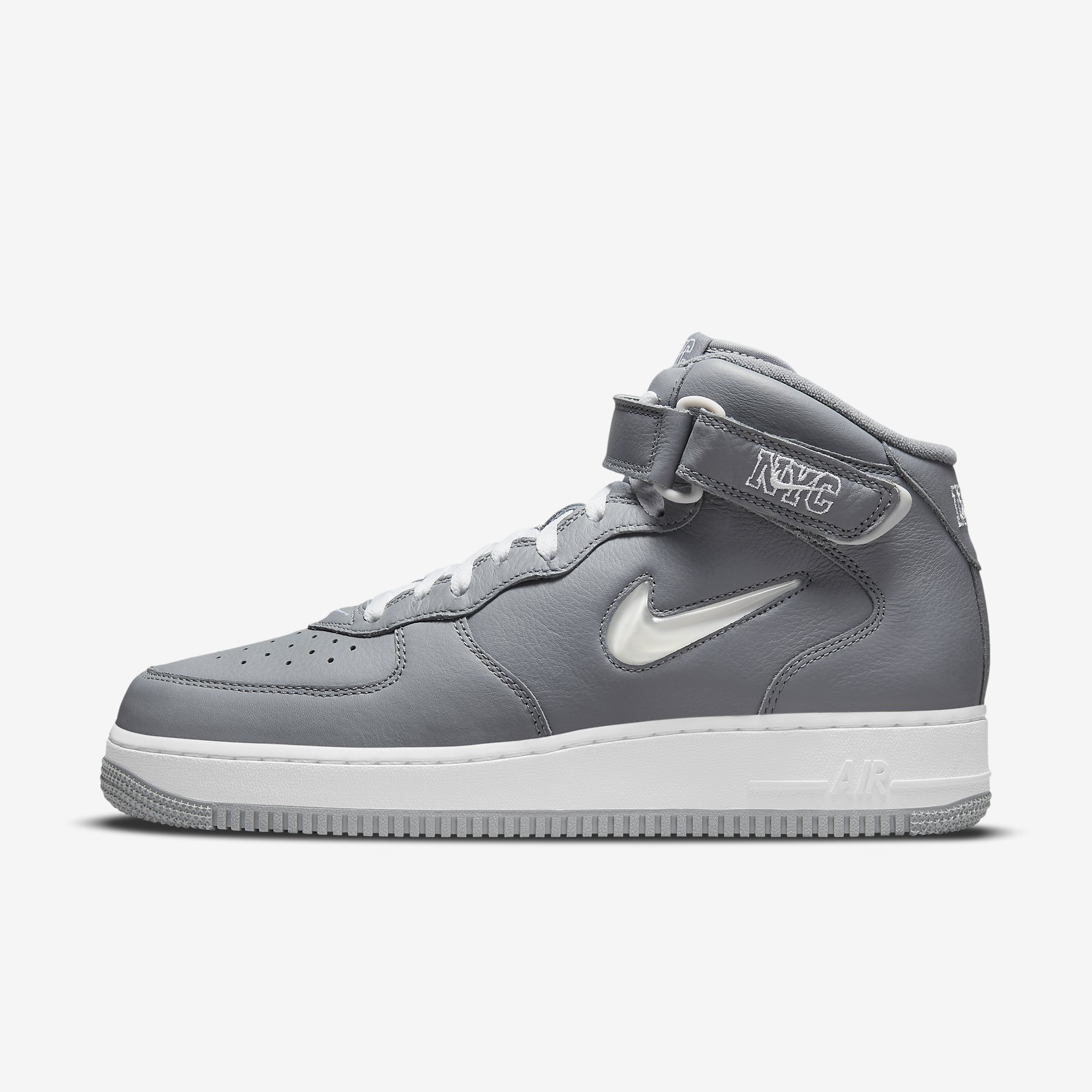 Nike Air Force 1 Mid Jewel NYC 'Cool Grey'