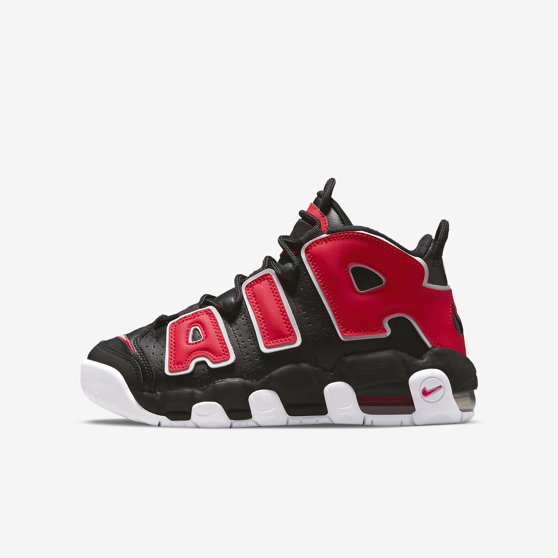 Nike Air More Uptempo GS 'Black/Red'