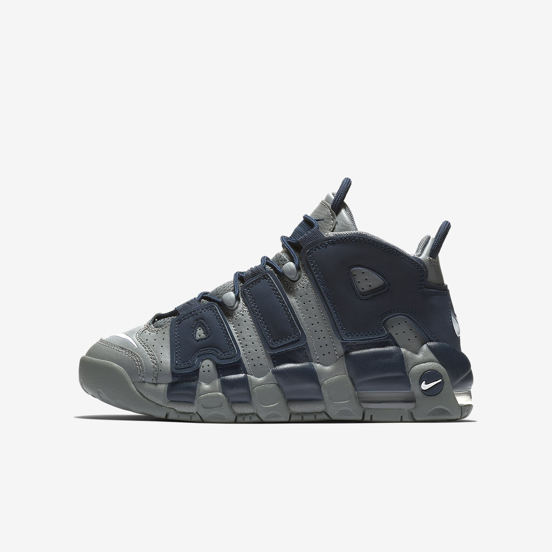 Nike Air More Uptempo GS 'Cool Grey/Midnight Navy'