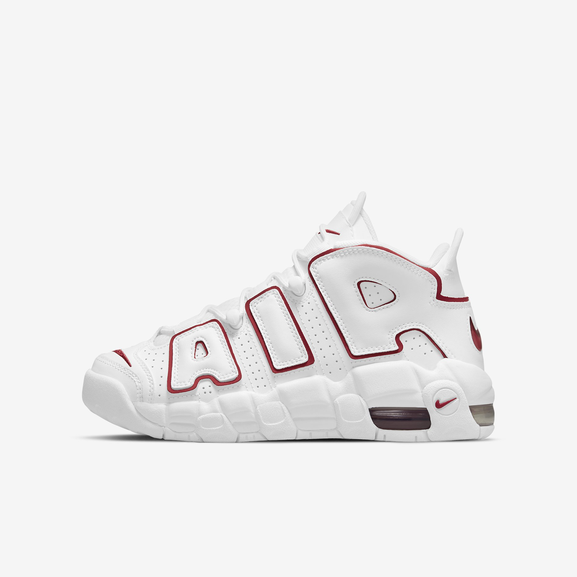 Nike Air More Uptempo GS 'White/Varsity Red'
