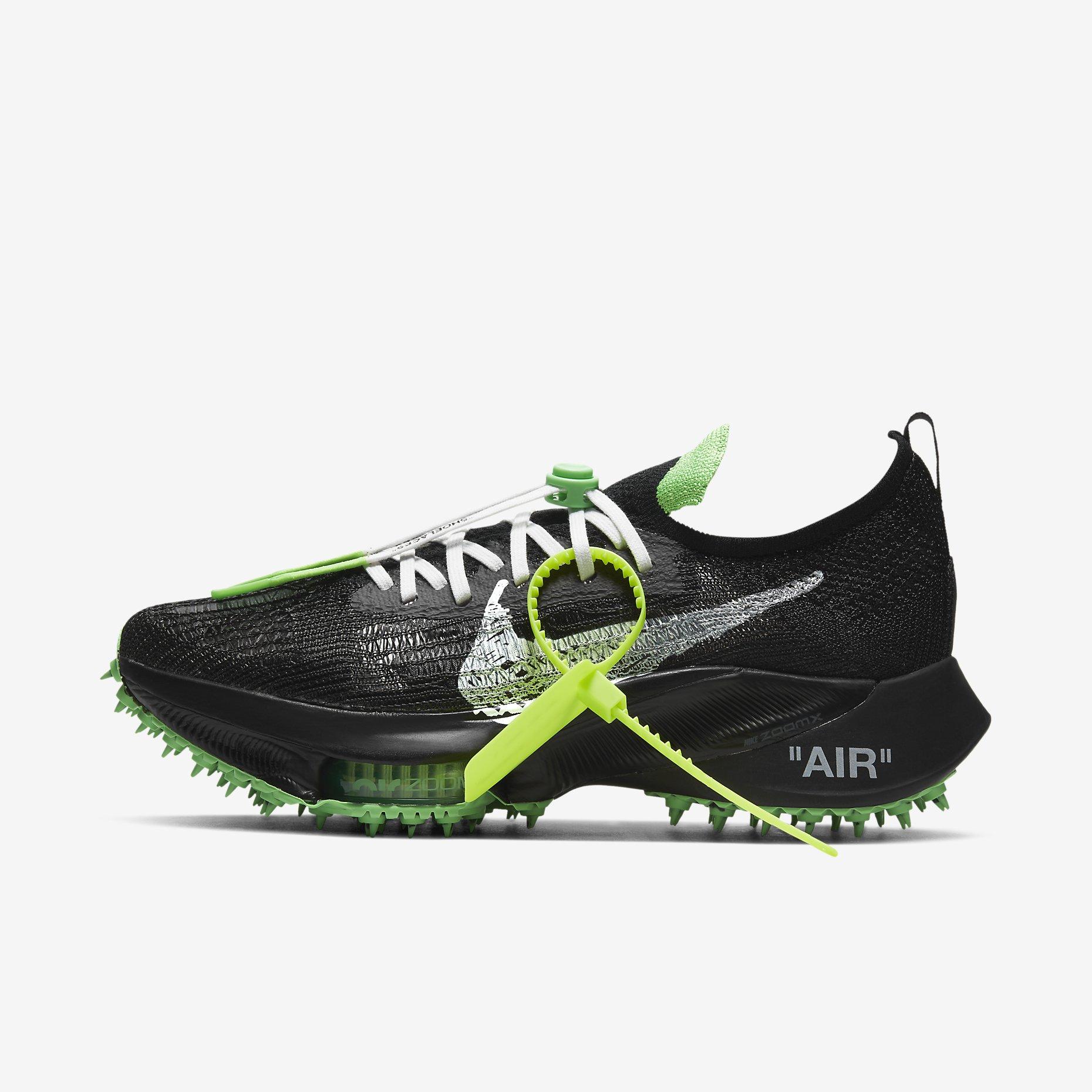 Off-White x Nike Air Zoom Tempo NEXT% 'Black Scream Green'