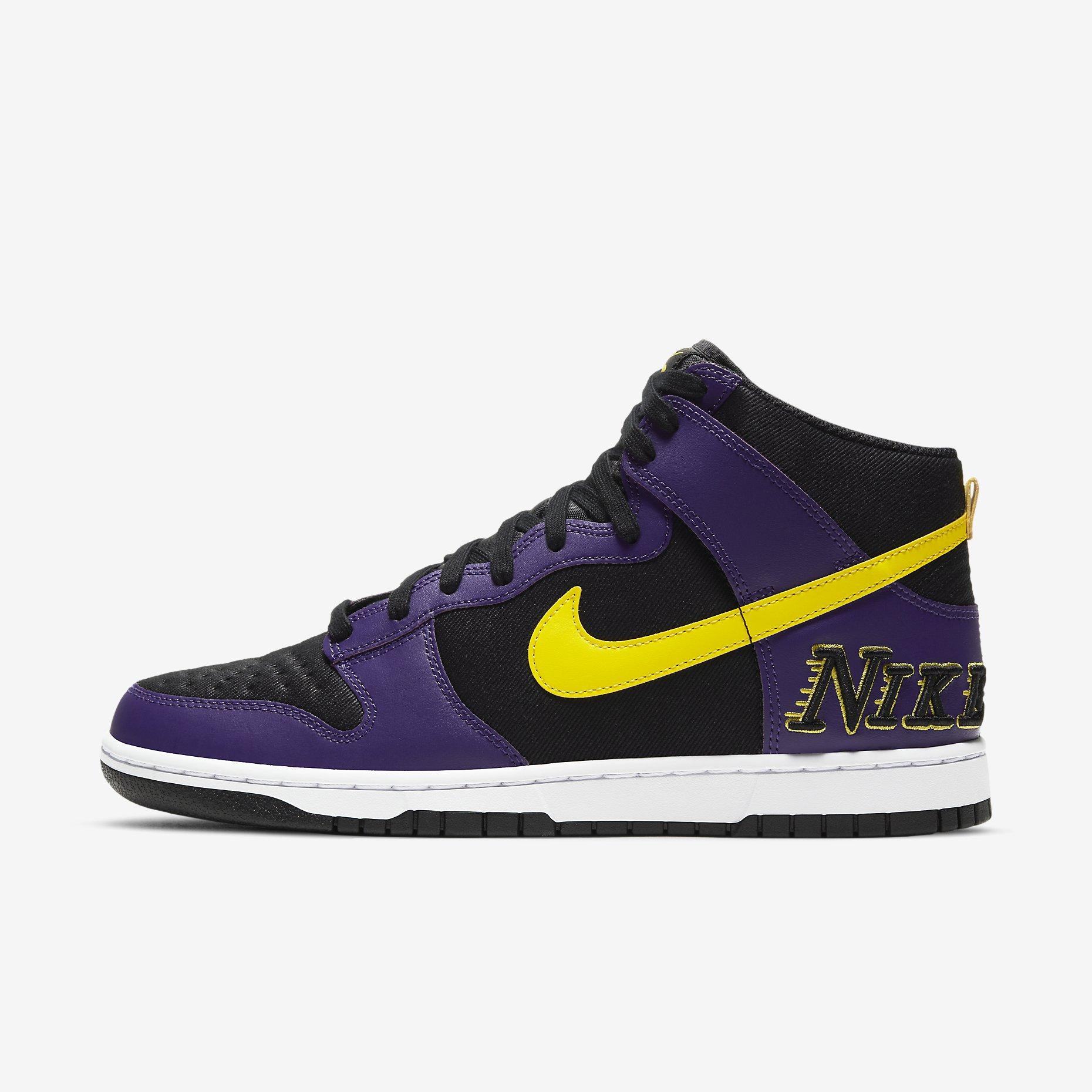 Nike Dunk High EMB 'Court Purple' - 'Lakers'}