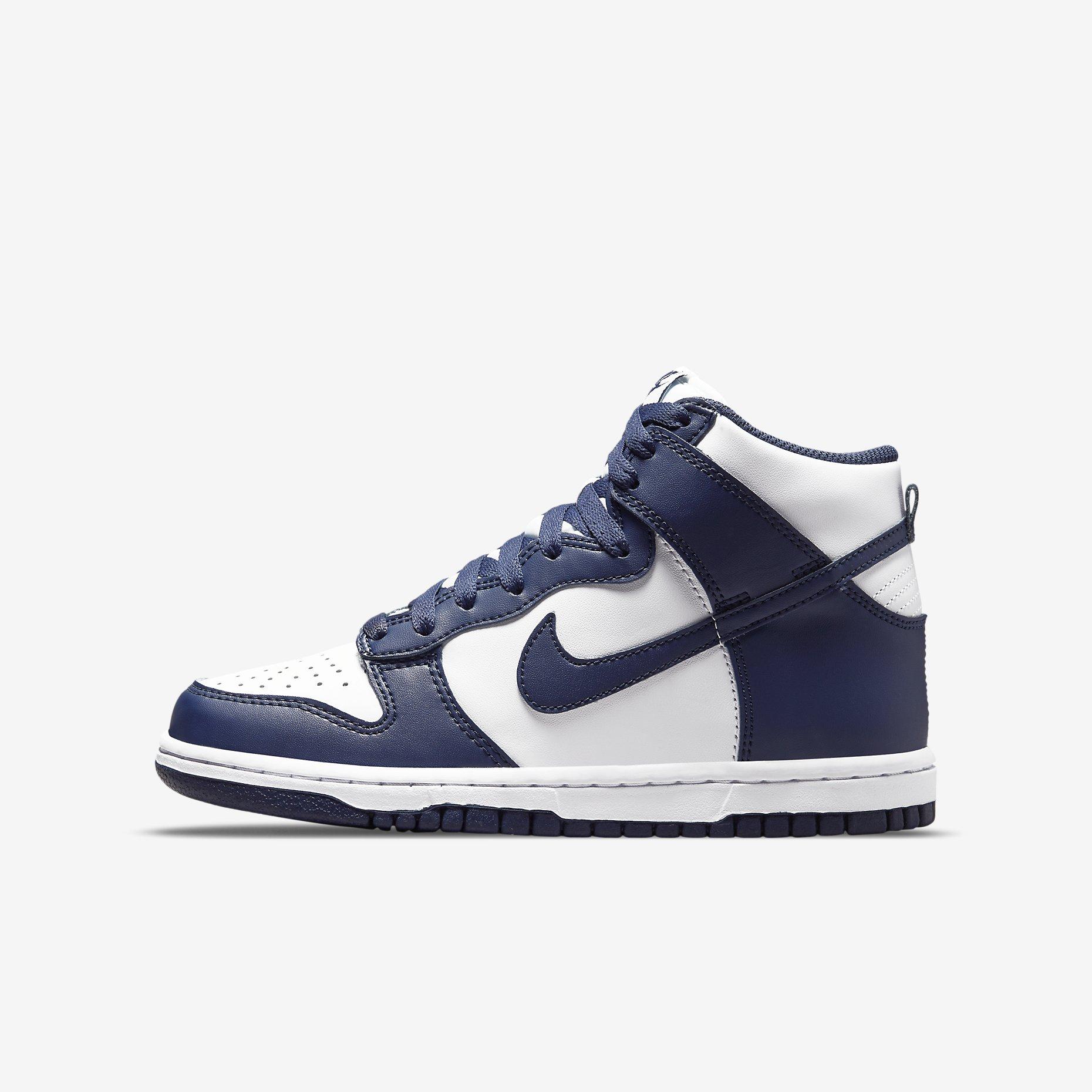 Nike Dunk High GS 'Midnight Navy'