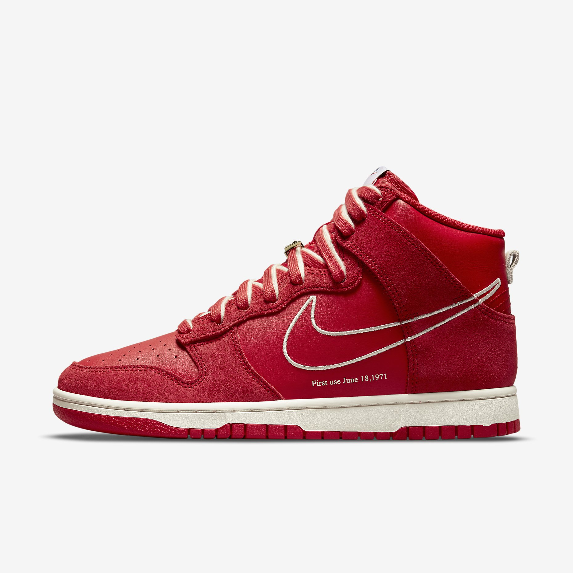 Nike Dunk High SE 'University Red' - First use}