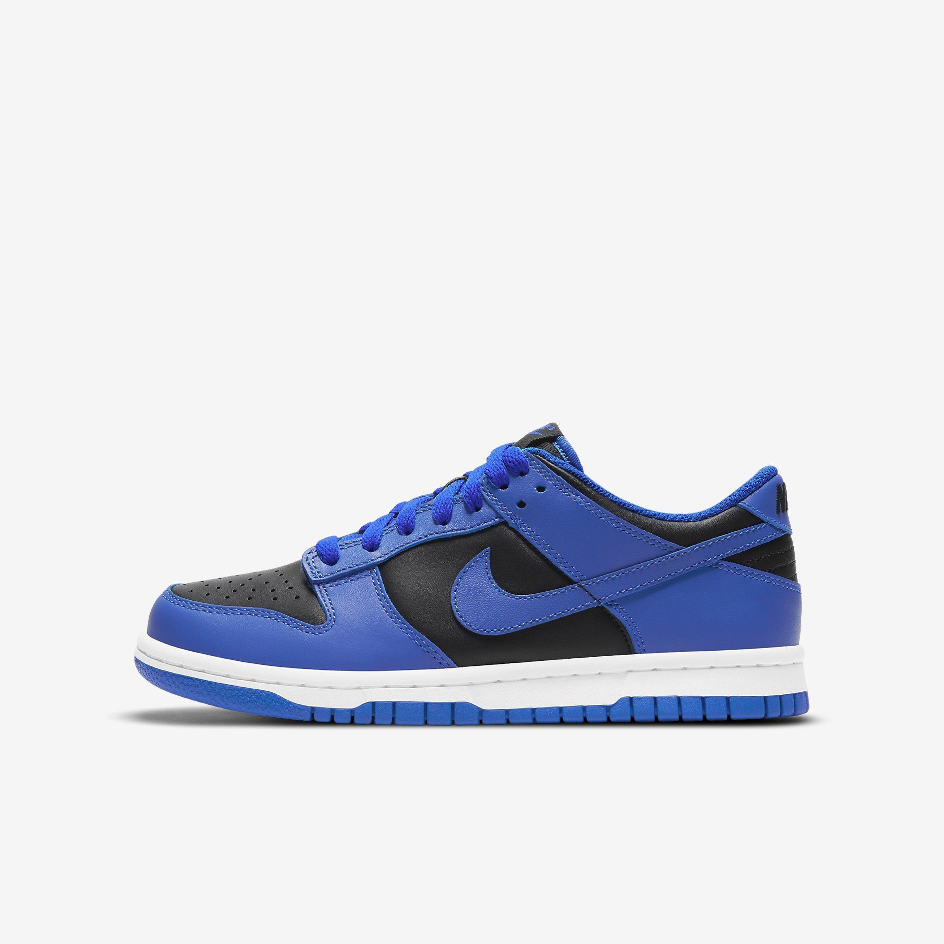 Nike Dunk Low GS 'Black Hyper Cobalt' 2021}