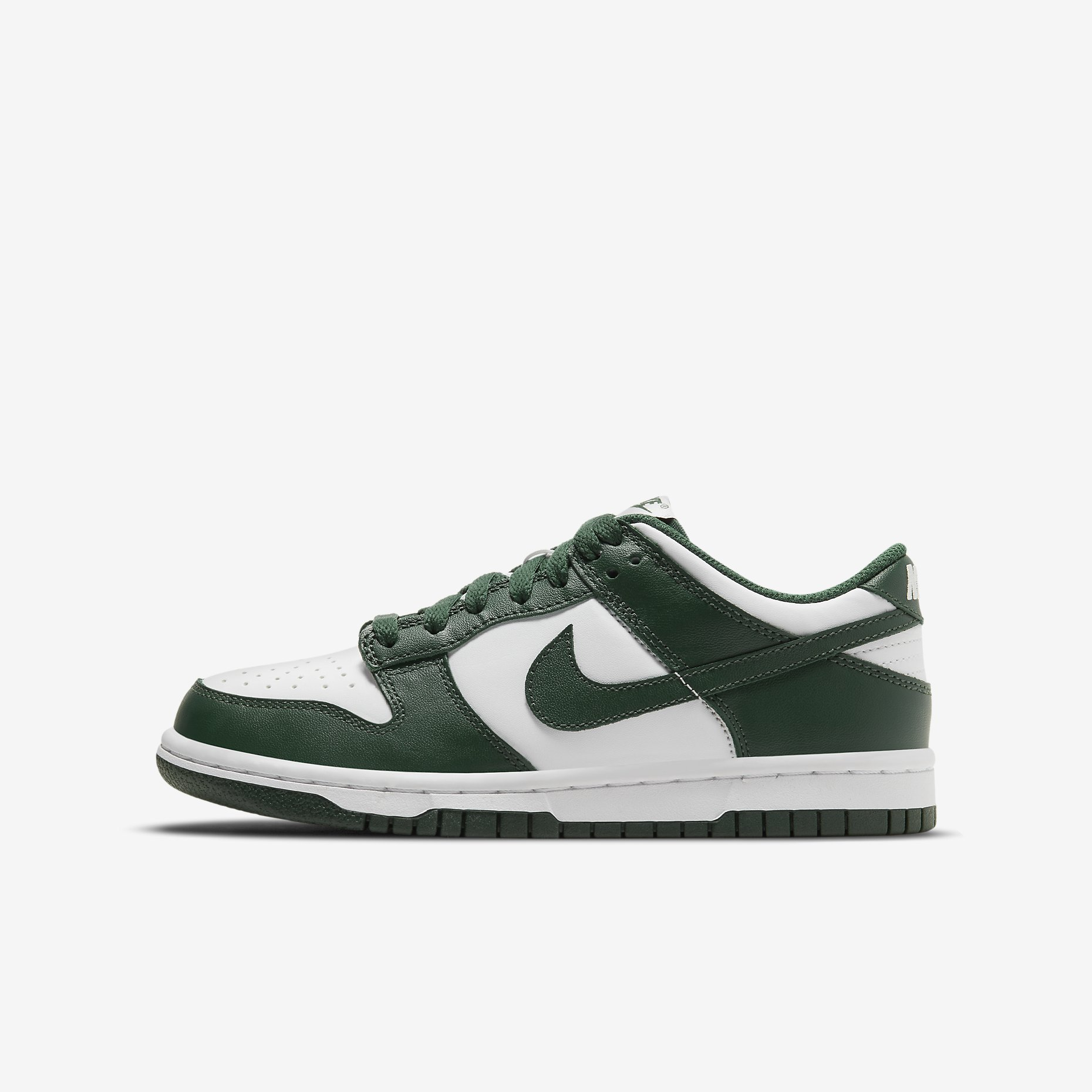 Nike Dunk Low GS 'White/Team Green'}