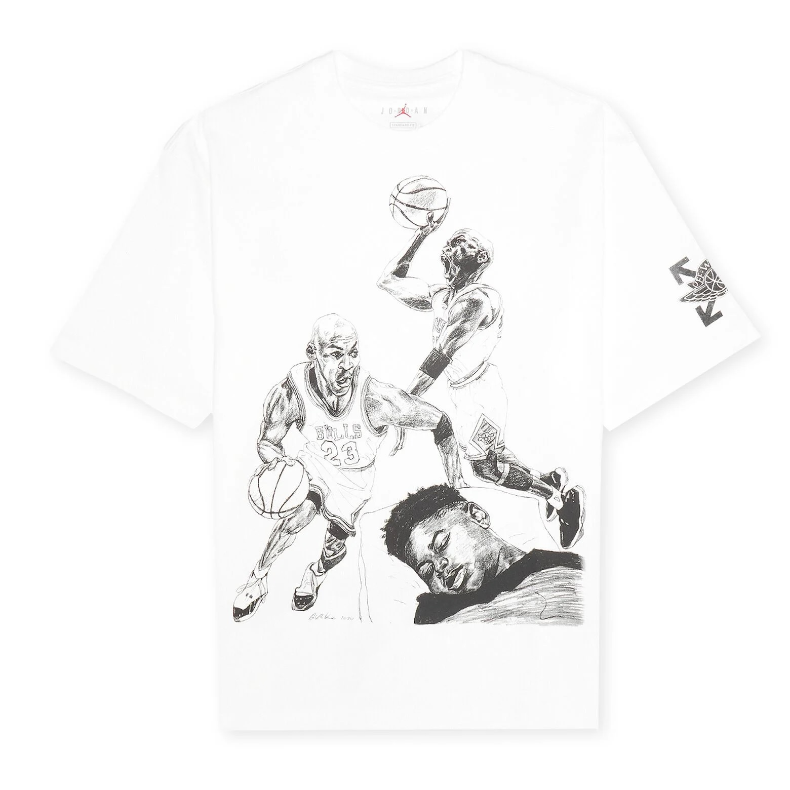 Off-White x Jordan T-Shirt 'White'}