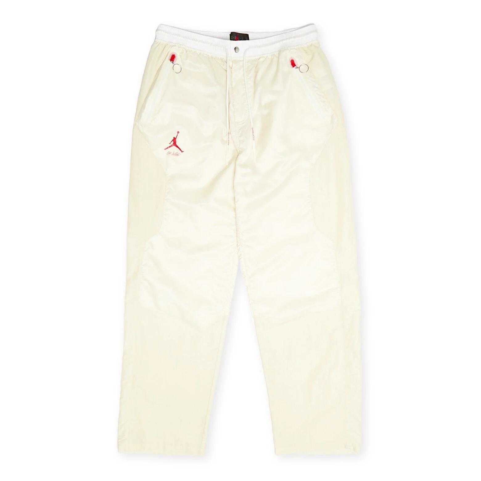 Off-White x Jordan Woven Pants 'Sail/Fossil'}