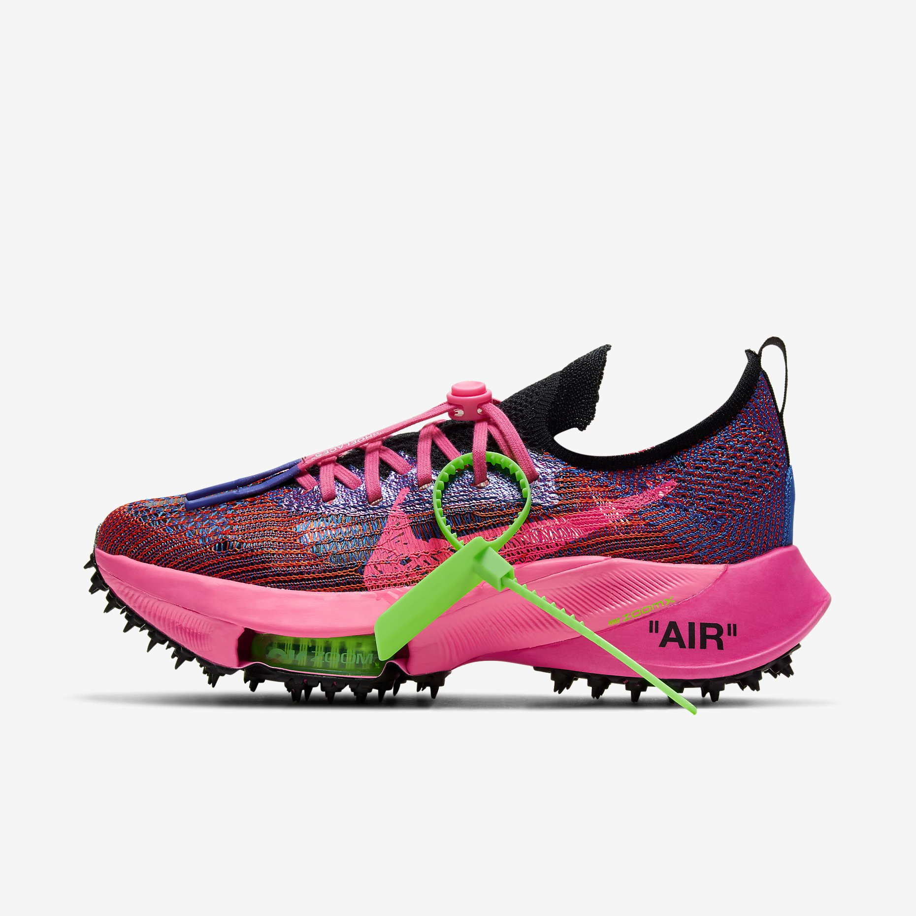 Off-White x Nike Air Zoom Tempo NEXT% 'Pink Glow'