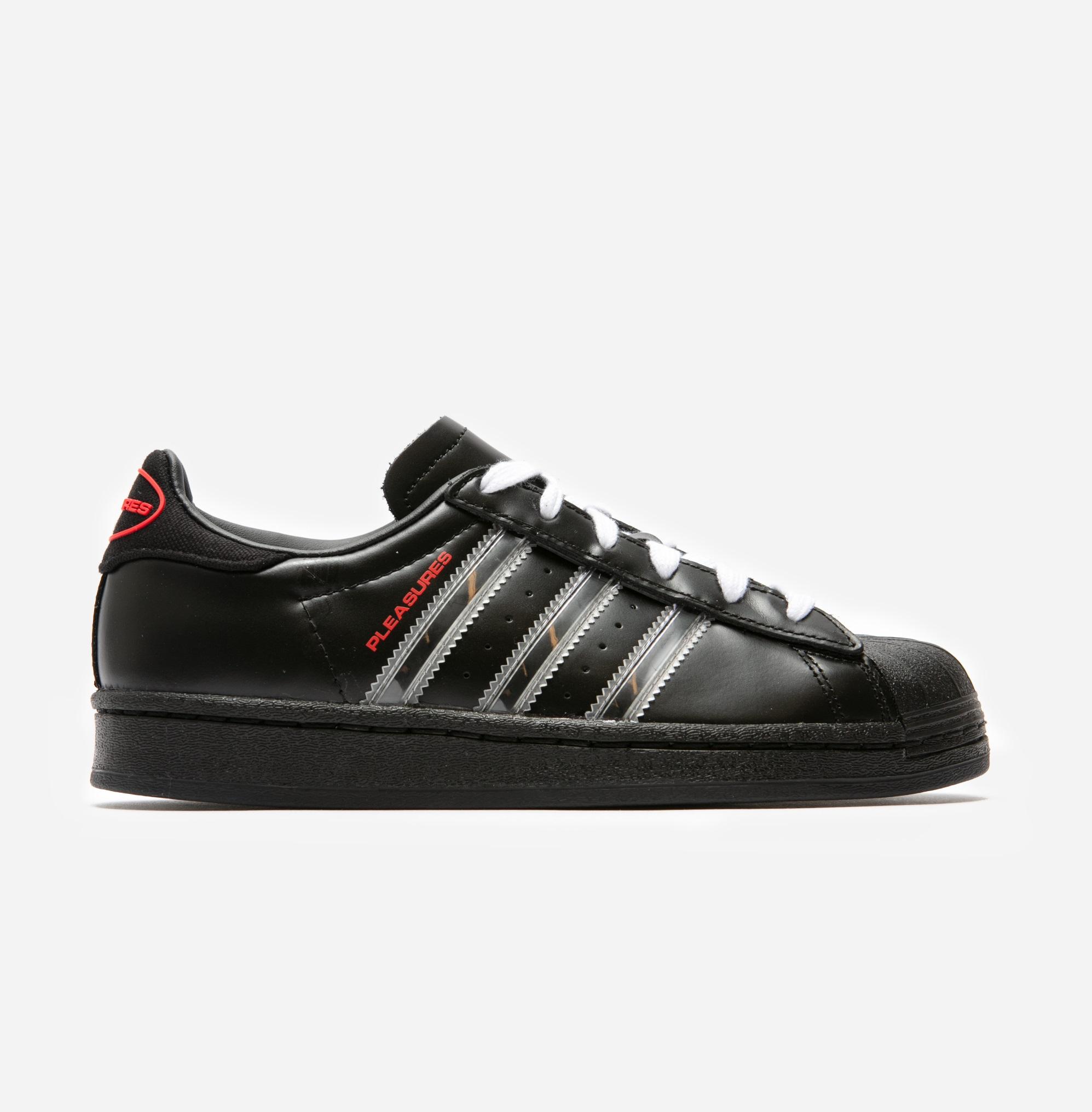 Pleasures x adidas Consortium Superstar 'Black'