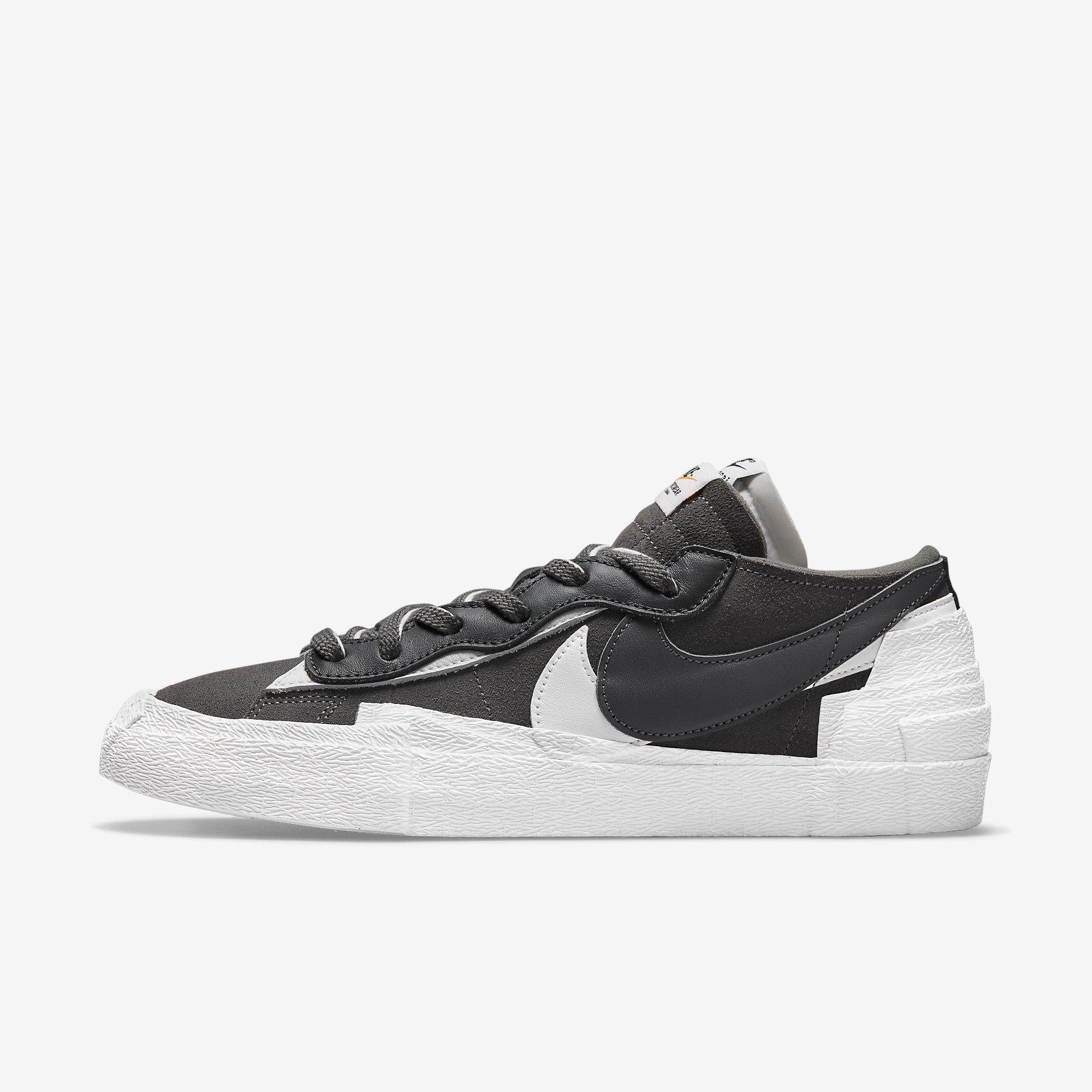 Sacai x Nike Blazer Low 'Iron Grey'}