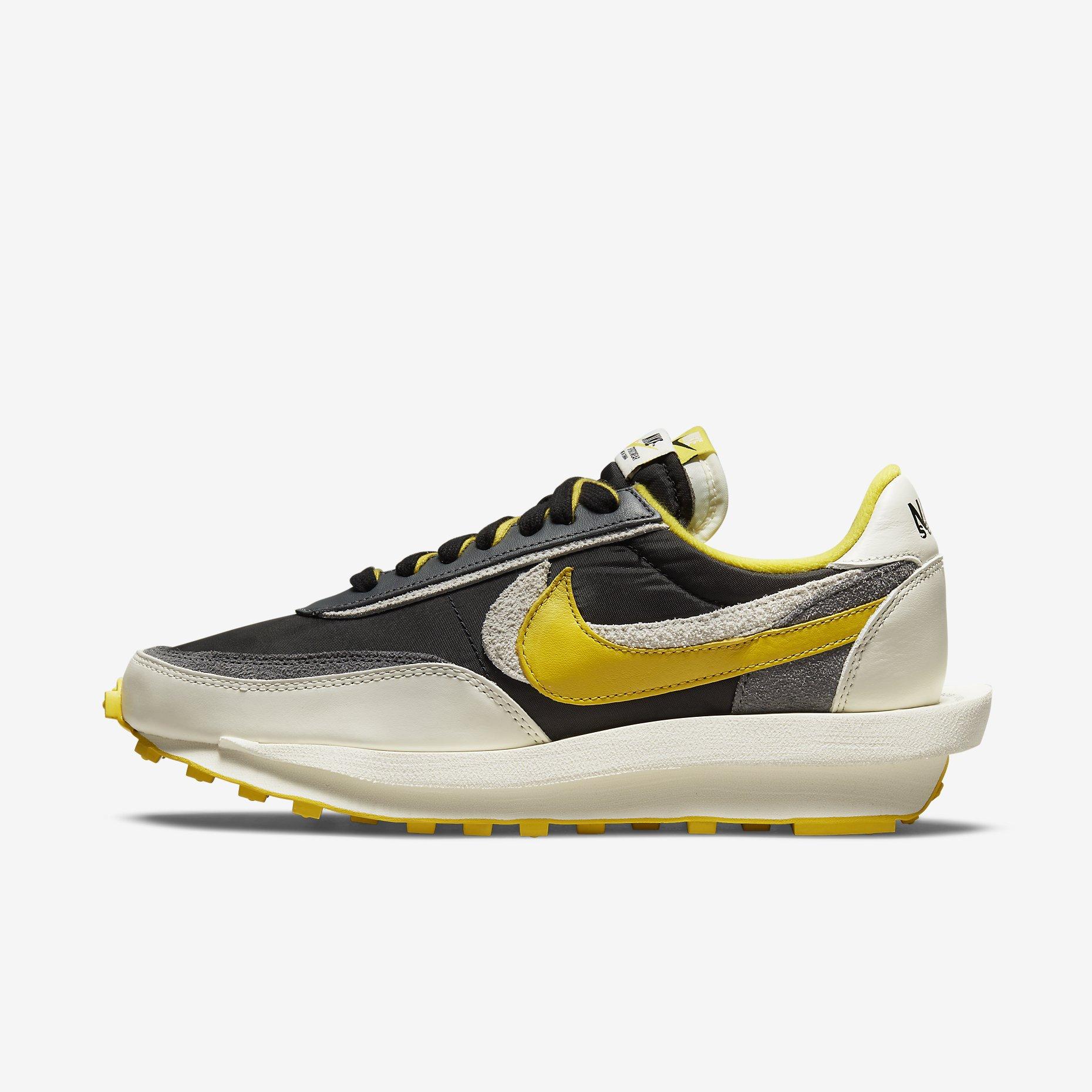 Undercover x Sacai x Nike LDWaffle 'Black Bright Citron'