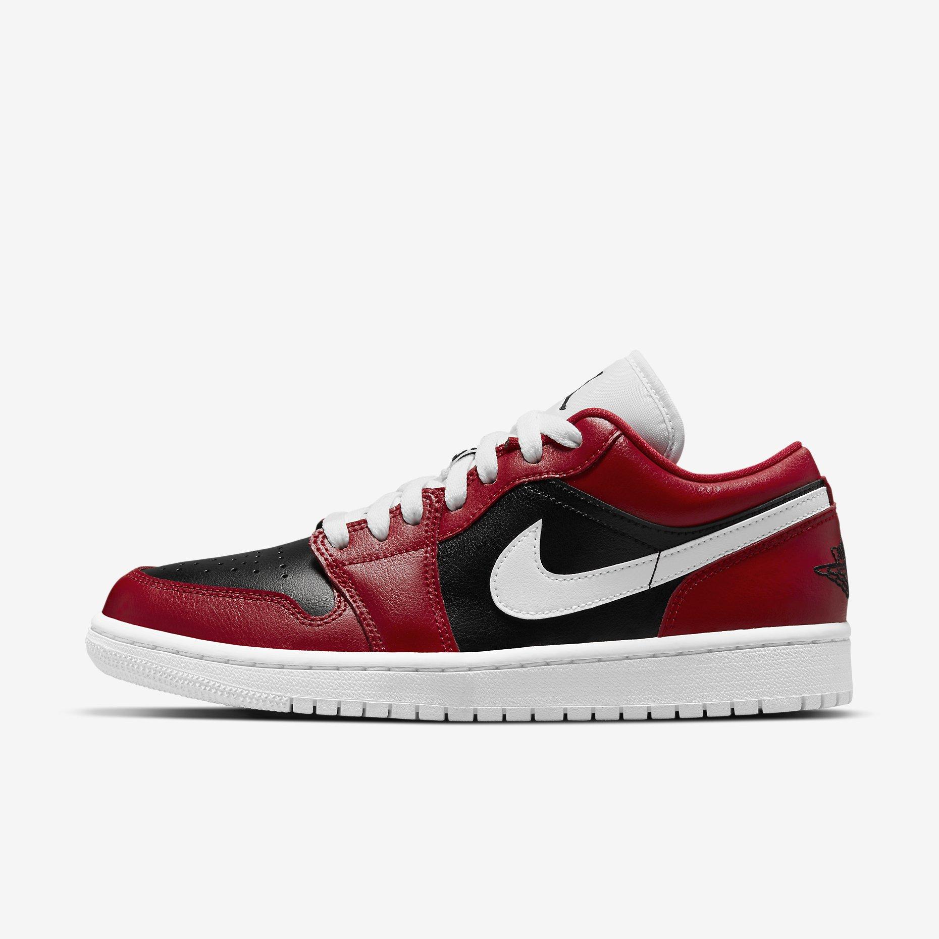 Women's Air Jordan 1 Low 'Gym Red/White/Black' - Chicago Flip}