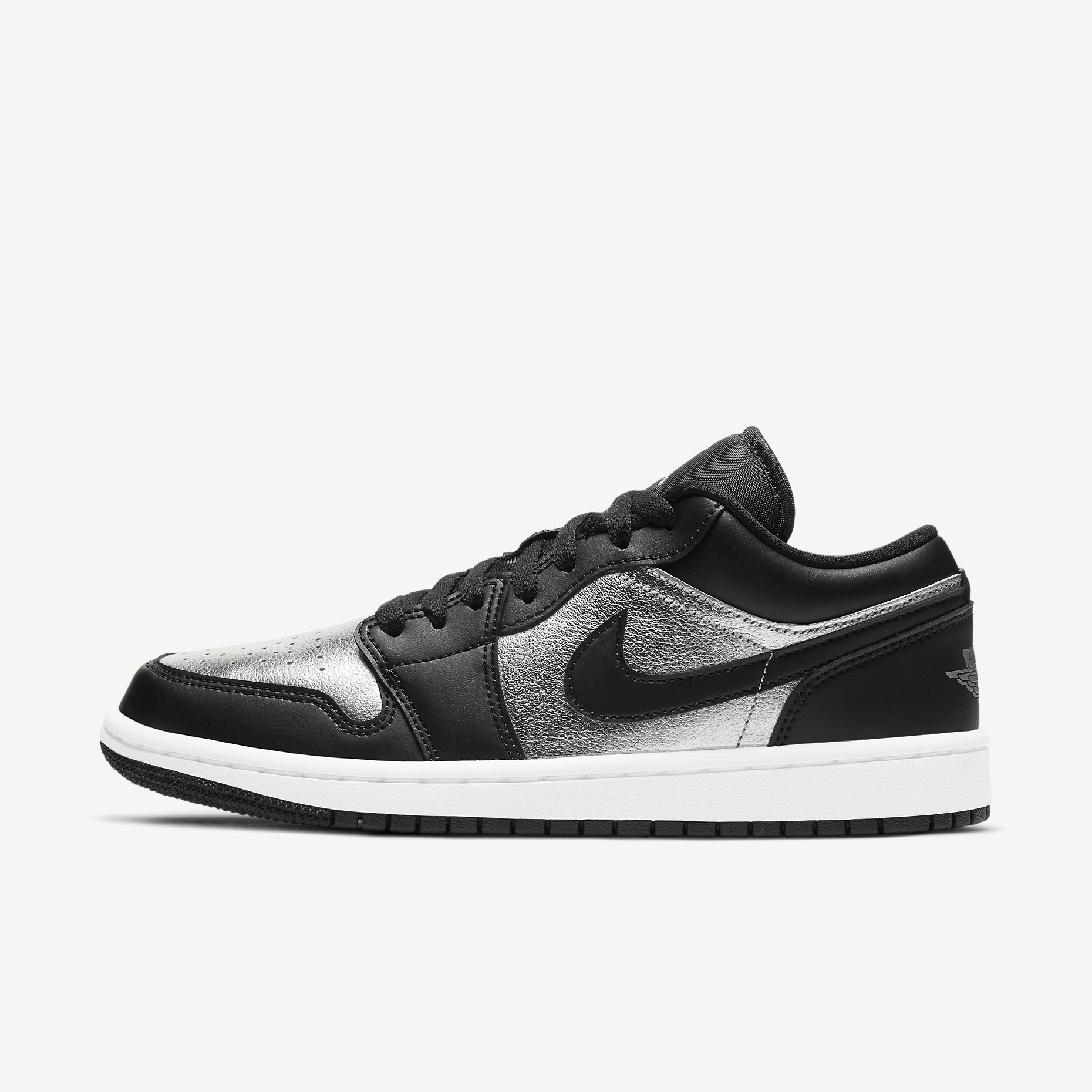 Women's Air Jordan 1 Low SE 'Black/Metallic Silver'}