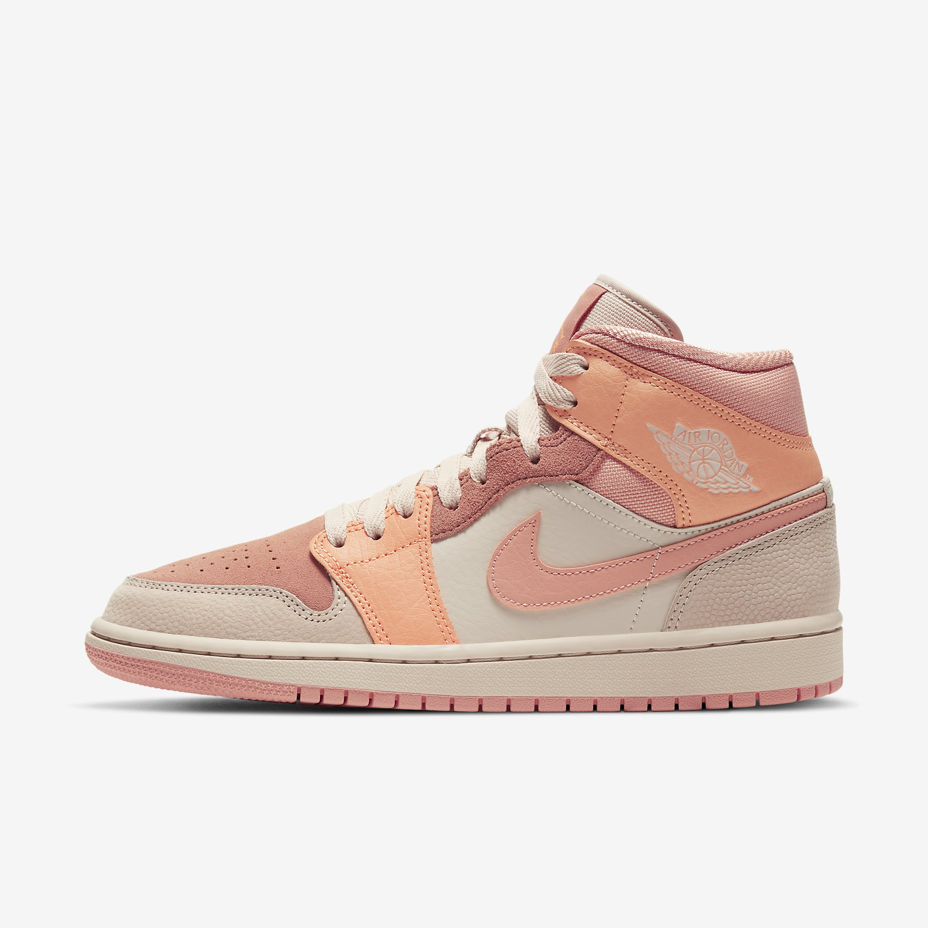 Women's Air Jordan 1 Mid 'Apricot Orange'}