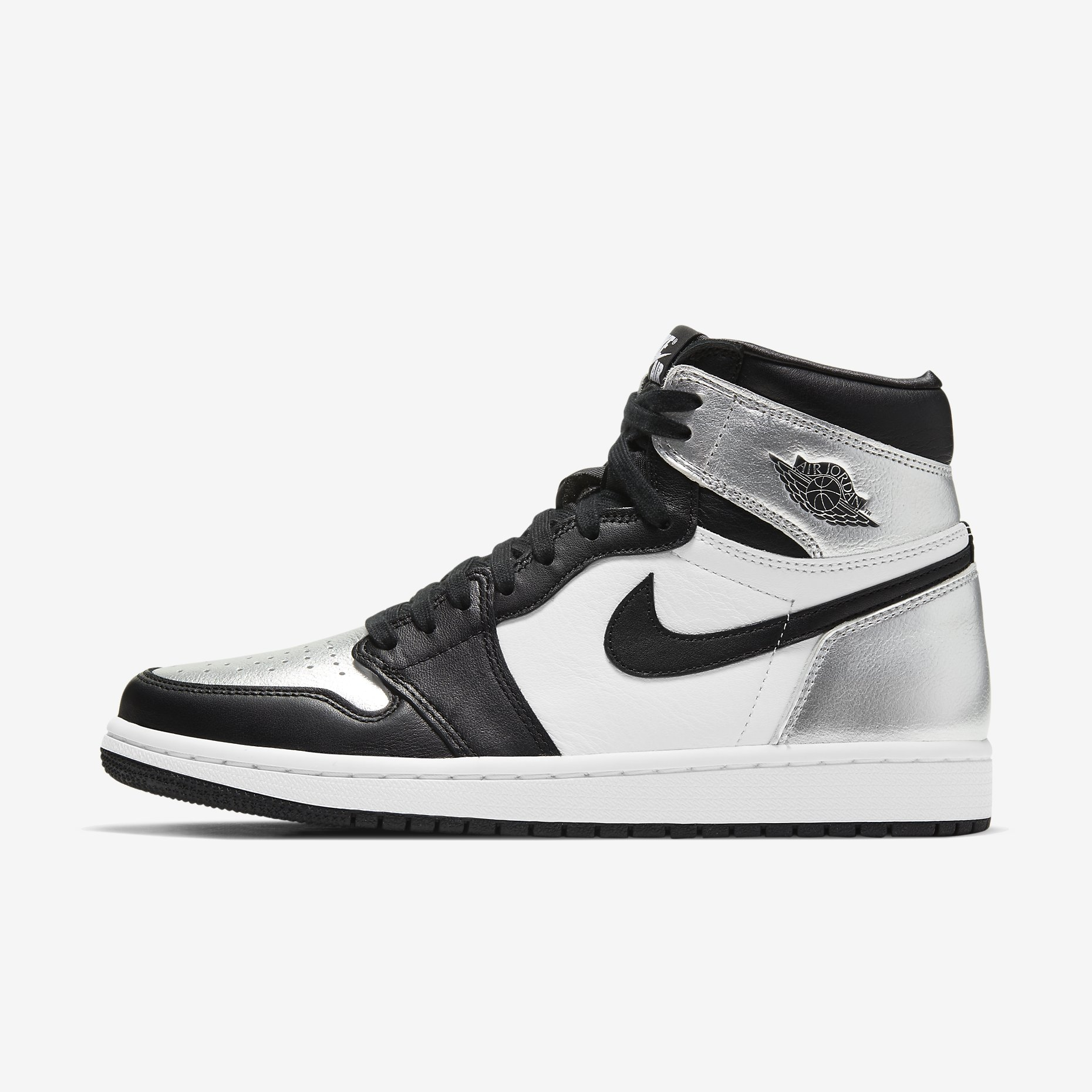 Women's Air Jordan 1 Retro High 'Silver Toe'}
